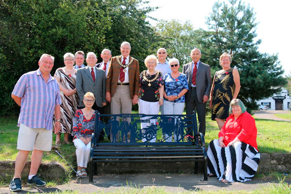 WWI Bench Dedication Group Photo